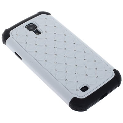 Double Layers Artificial Diamond Pattern Plastic and Silicone Case for Samsung Galaxy S4 i9500 / i9505