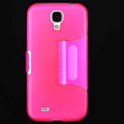 Touch Screen Outside Crystal TPU Ultra Slim Stand Case for Samsung Galaxy S4 i9500 / i9505