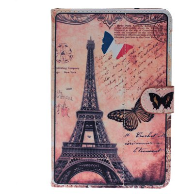 Tower and Batterfly Style PU Leather Protective Stand Cover Case for 9 inch Tablet PC