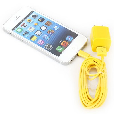 ФОТО Portable USB Power Charger + 3M USB 8Pin Cable for iPhone 5 / 5S / 5C