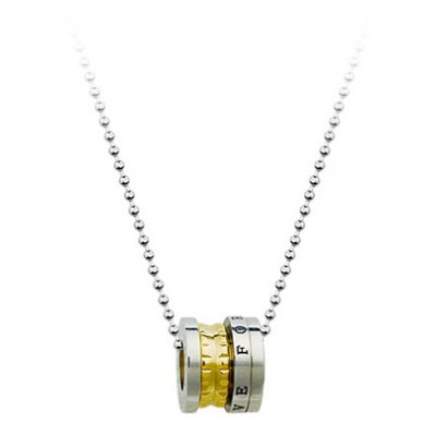 Chic Letter Carved Rotatable Pendant Necklace For MenMens Jewelry<br>Chic Letter Carved Rotatable Pendant Necklace For Men<br><br>Item Type: Pendant Necklace<br>Gender: Men<br>Metal Type: Titanium<br>Style: Trendy<br>Length: 48CM<br>Weight: 0.1KG<br>Package Contents: 1 x Necklace