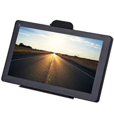 AW - 706 7 - Inch 800 x 480 TFT Touch Screen 128MB 4GB Bluetooth Car GPS Navigation with Multimedia Function