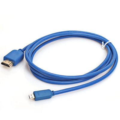 1.5M Portable 3D Video Support Male to Male HDMI 1.4 Cable (Blue)