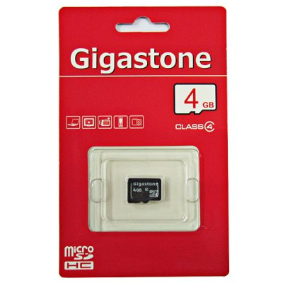 Fashionable 4GB Gigastone Micro SDHC Class4 Card for Digital Camera/Avigraph/Phone