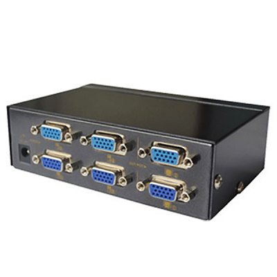 Гаджет   eKL 1920 x 1440 High Rsesolution VGA 4 Ports 4 in 2 out Switch 250MHZ HDCP (Black) Cables & Connectors