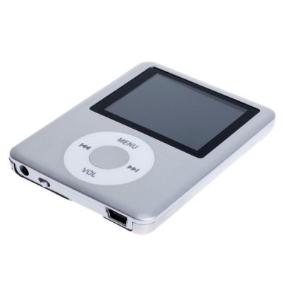 Fashion Design 1.8 inch Display Digital MP3 Player Metal Cover Support TF Card