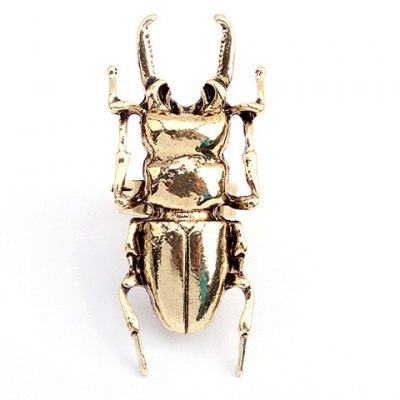 Insect Embellished Alloy Finger Ring