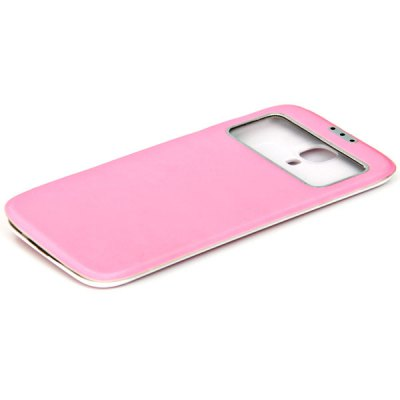 Durable PU Leather Battery Back Case for Samsung Galaxy S4 i9500 ( Pink )