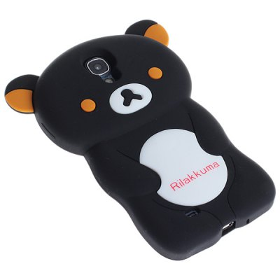 Silicone Shell with Bear Pattern for Samsung Galaxy S4 i9500 / i9505