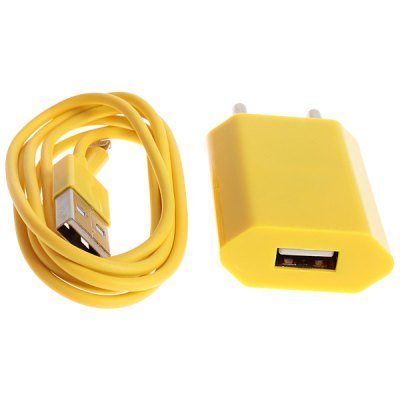 8pin Charge and Data Transmit Cable and Europe Standard Power Adapter