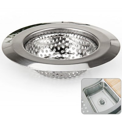 High Quality and Durable 9CM Dross Strainer Drain Net for Kitchen - Silver
