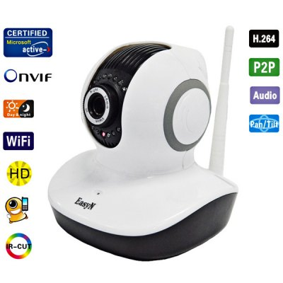 EasyN H3 - V10D 3.6mm Lens IR Night Vision Wireless IP Camera CMOS 1.0MP Cam, Support iPhone and Android Phone Connecting (White)