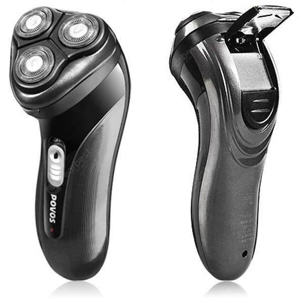 POVOS PQ7100 3D Floating Triple - head Pop - up Soft - touch Switch Trimmer Electric Shaver HB0319701