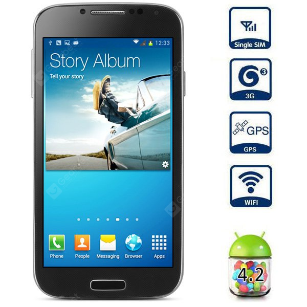 I9500 4.7 inch Android 4.2 3G Smart Phone MTK6589 Quad Core 1.2GHz QHD IPS Screen 12.7MP Camera GPS
