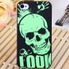 Buy Cool Relievo Green Skull Head Style Noctilucent Protective PC Hard Shell Case iPhone 4 / 4S