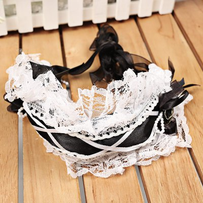 ФОТО Cute Crochet Lace Princess Flowers Pattern Headband Hair Band Decoration for Little Girls - White Lace