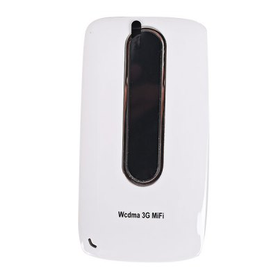 I10 3000mAh Fashionable Mobile Power Bank Cuboid Filleted Corner Style 3G Wireless Router