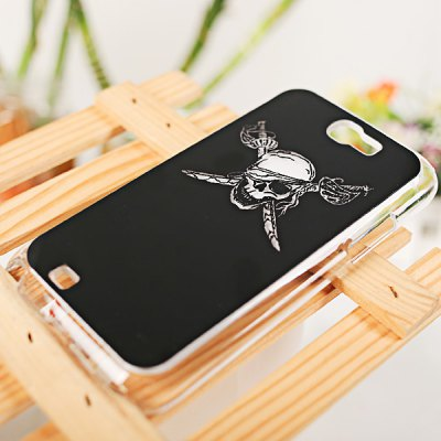 Cool Skull Head Style Flasher LED Color Changed Protector Case for Samsung Galaxy Note 2 N7100 ( Flash While Calling or Called ) - Black