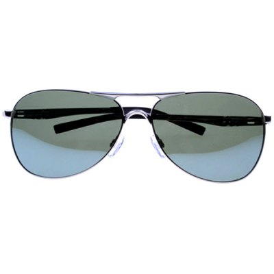 High Quality Driving Polarized Sunglasses with Gun Color Frame Resin Dark Green Lens for Male
