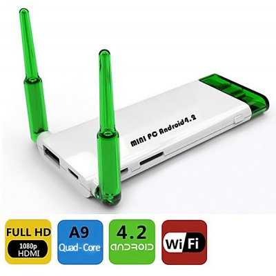1080p High - definition Quad Core Android 4.2 Mini PC/TV Box with HD Video Encod
