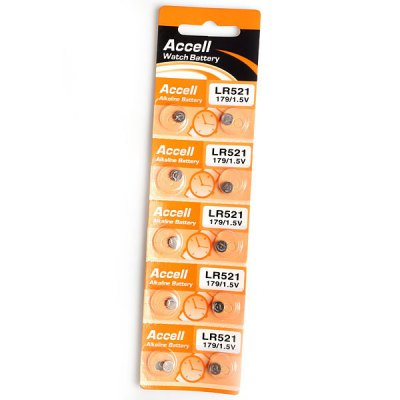 Гаджет   High Quality Accell 179 LR521 1.5V Alkaline Cell Button / Watch Battery 10Pcs Batteries