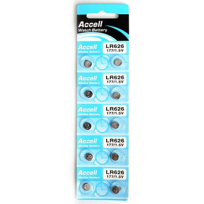Гаджет   Accell 177 LR626 1.5V Alkaline Battery Coin Battery  -  10Pcs Batteries