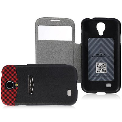 Baseus View Window and Goblet Design PU Leather Cover Case for Samsung Galaxy S4 i9500 / i9505