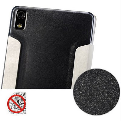 Baseus Plastic + PU Leather Case for Huawei Ascend P6 with Call Display