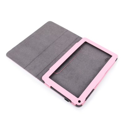 ФОТО Universal Unique Artificial Leather Case for 9 Inch Tablet PC - Pink