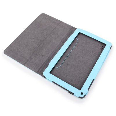 ФОТО Universal Unique Artificial Leather Case for 9 Inch Tablet PC - Blue