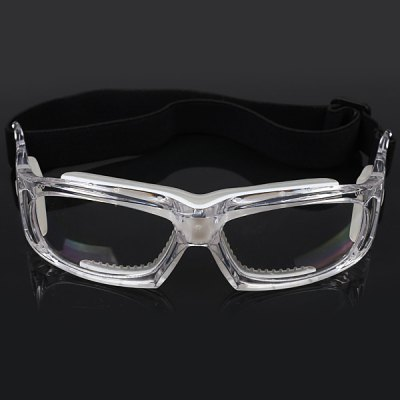 Excellent Basketball Glasses Sports Safety Goggles Soccer Football Eyewear - White