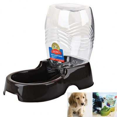 Plastic Pet Automatic Drinker with Detachable Bottle and Dish Feeder