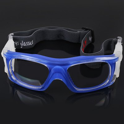 Professional Shockproof Basketball Sports Safety Eyewear Goggles Soccer Football Protection Glasses - Blue