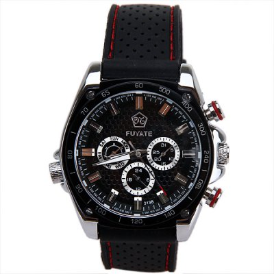 ФОТО Mechanical Watches with Six Working Hands Round Dial and Silicon Band