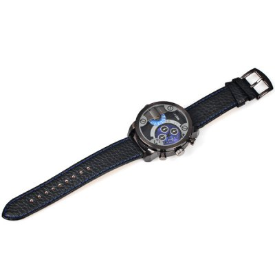 Фотография Military Watches with Japan Double - movt Three Small Decorating Hands Round Dial and Leather Band