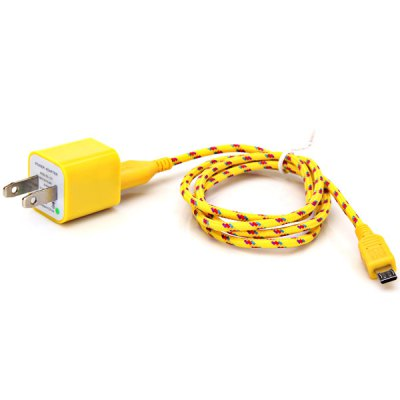 ФОТО USB Power Charger and 1M Nylon Fabric Braided Micro USB Cable