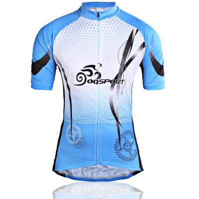 M Size Fashion Race Short Sleeve Biking Cycling Suit Jersey Set for Men - Blue and BlackCycling<br>M Size Fashion Race Short Sleeve Biking Cycling Suit Jersey Set for Men - Blue and Black<br><br>Type: Cycling Suit<br>For: Leisure sport, Fitness, Cycling<br>Material: Polyester<br>Functions: Soft, Flexible, Breathable, Anti-Shrink, Wicking, Quick-drying<br>Size: M<br>Color: Blue, Black<br>Package weight   : 0.45 kg<br>Package size (L x W x H)  : 34.5 x 28 x 8 cm<br>Package Contents: 1 x Cycling Jacket, 1 x  Cycling Short
