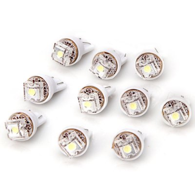 T10 Plug White Light Bulb Car Light/Lamp  -  10pcs/Pack