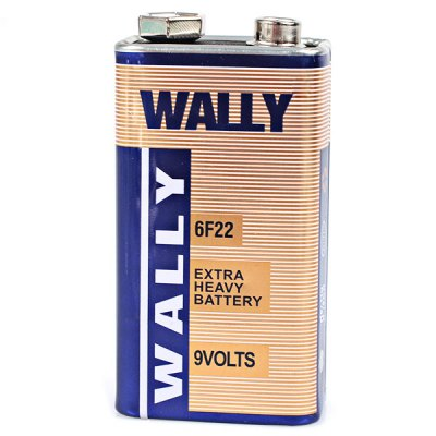 Гаджет   Wally Low Carbon and Environment Friendly Wally 6F22 9V Carbon Battery - 1Pcs Batteries