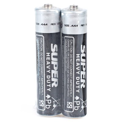 Гаджет   Low Carbon and Environment Friendly Wally Size AAA 1.5V Carbon Battery - 2Pcs Batteries