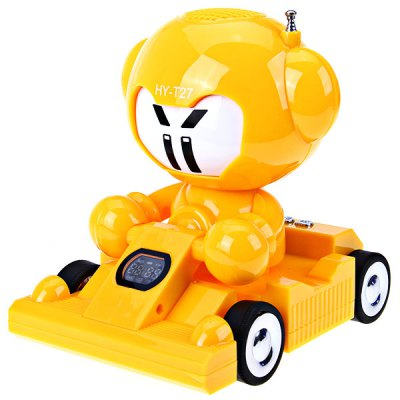 HY - T27 Stereo Cartoon Cool Car Speaker with TF/USB/FM Radio