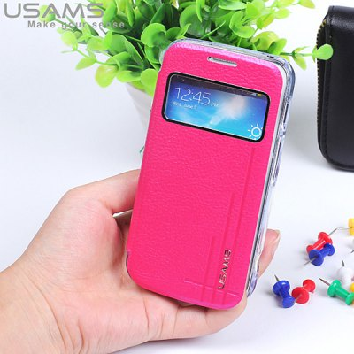 Гаджет   USAMS PU Leather + PC Case with Ultra - Slim Design for Samsung Galaxy S4 Zoom C101 Samsung Cases/Covers