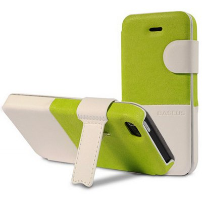 Baseus Fashion Flip Lively Wallet Style PC + PU Leather Stand Case for iPhone 5