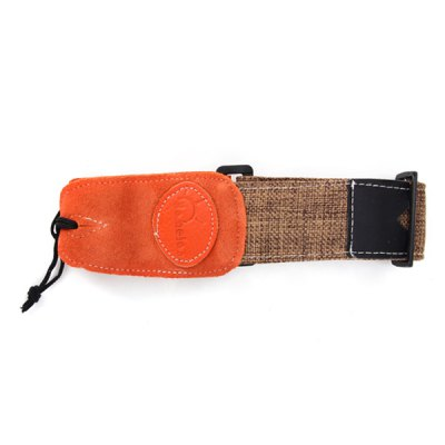 Adjustable Length Linen Strap with Red Head
