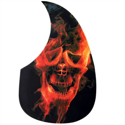 Flame Skull Head Design Acoustic Guitar Pickguard