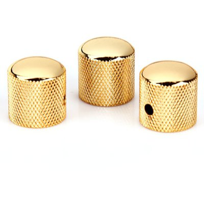 3PCS High Quality Golden Alloy Dome Volume Tone Speed Control Knobs for Electric Guitar