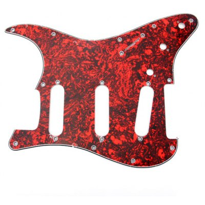 Fanta Style Red Tortoise Shell 3-PLY Electric Guitar Pickguard