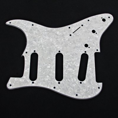 MA-026 Professional PVC 3-PLY White Peal Pickguard Scratch Plate for Fanta Style Celluloid and Electric Guitar
