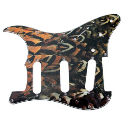 Peacock Feather Pattern 3-PLY Electric Guitar Pickguard