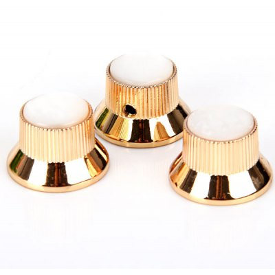KB-58 3PCS High Quality Metal Golden Knobs with White Seashell